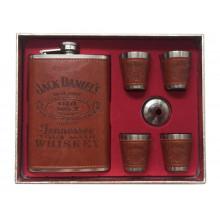 Подарочный набор фляга со стопками Jack Daniels brown 270мл (122386F)