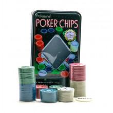 Набор фишек для покера, 100 штук IGR55