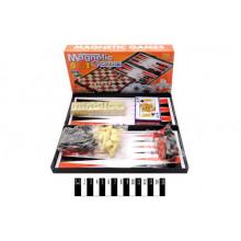 Магнитная игра 5 в 1 (шахматы, шашки, нарды, карты, домино) 9841A